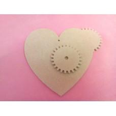 4mm MDF Cog Heart